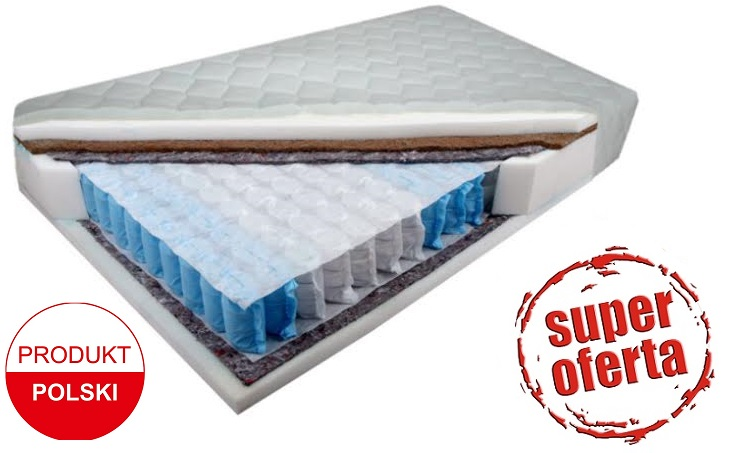 materac 90x200 kieszeniowy eko 9 stref kokos h3 h4 6218783541 wi cej ni aukcje. Black Bedroom Furniture Sets. Home Design Ideas