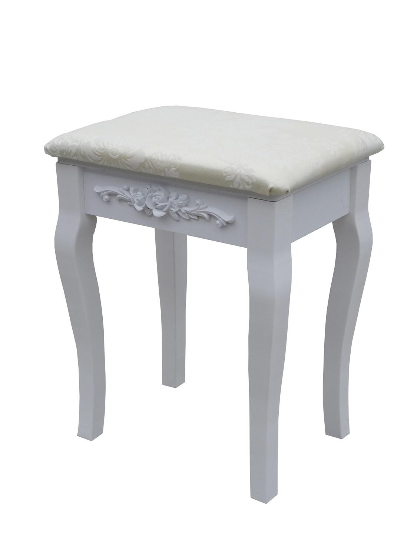 schminktisch kosmetiktisch frisiertisch mit drei spiegel hocker schublade wei ebay. Black Bedroom Furniture Sets. Home Design Ideas