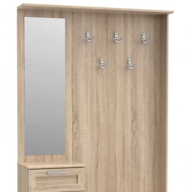 flurschrank schuhschrank schrank schuhregal mit spiegel flur sonoma eiche top ebay. Black Bedroom Furniture Sets. Home Design Ideas