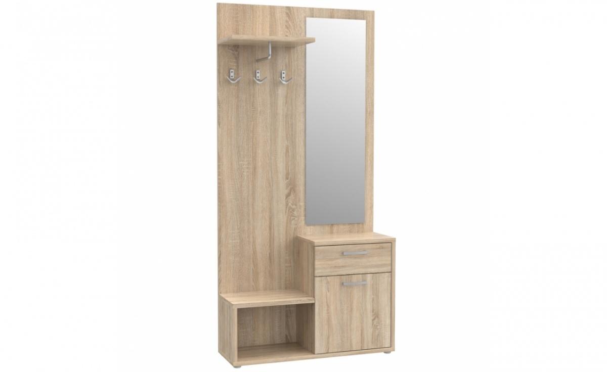 flurschrank schuhschrank schrank schuhregal mit spiegel flur sonoma eiche top ebay. Black Bedroom Furniture Sets. Home Design Ideas