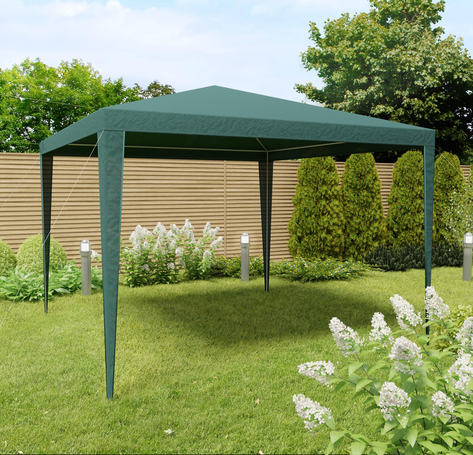 pavillon gartenpavillon partyzelt zelt garten 3x3 gr n ebay. Black Bedroom Furniture Sets. Home Design Ideas