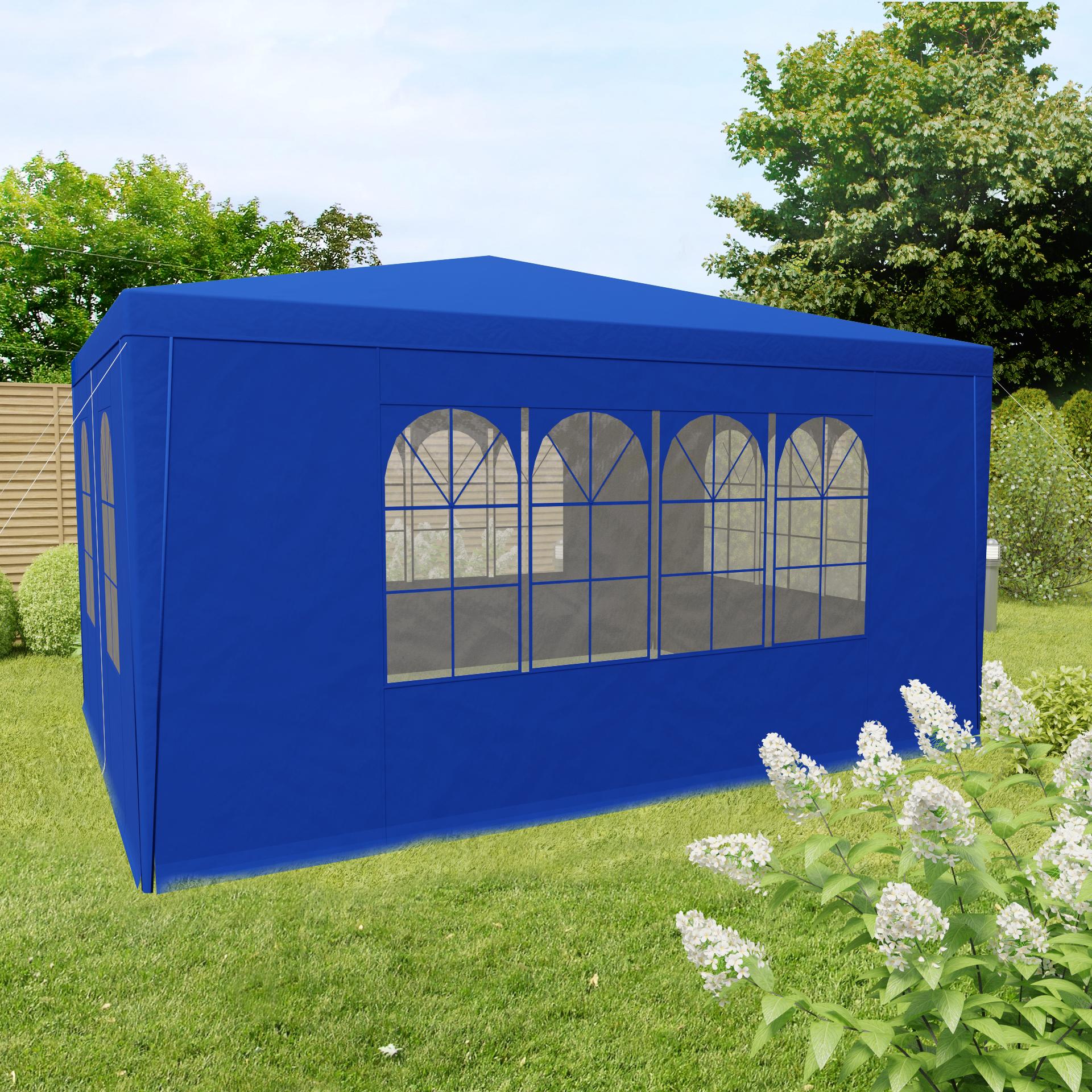 pavillon gartenpavillon partyzelt zelt garten 3x4 blau. Black Bedroom Furniture Sets. Home Design Ideas