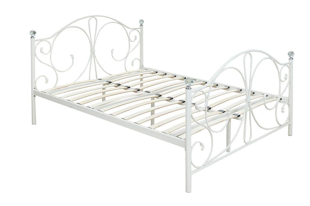 metallbett ehebett doppelbett 160x200 ehebett wei mit. Black Bedroom Furniture Sets. Home Design Ideas