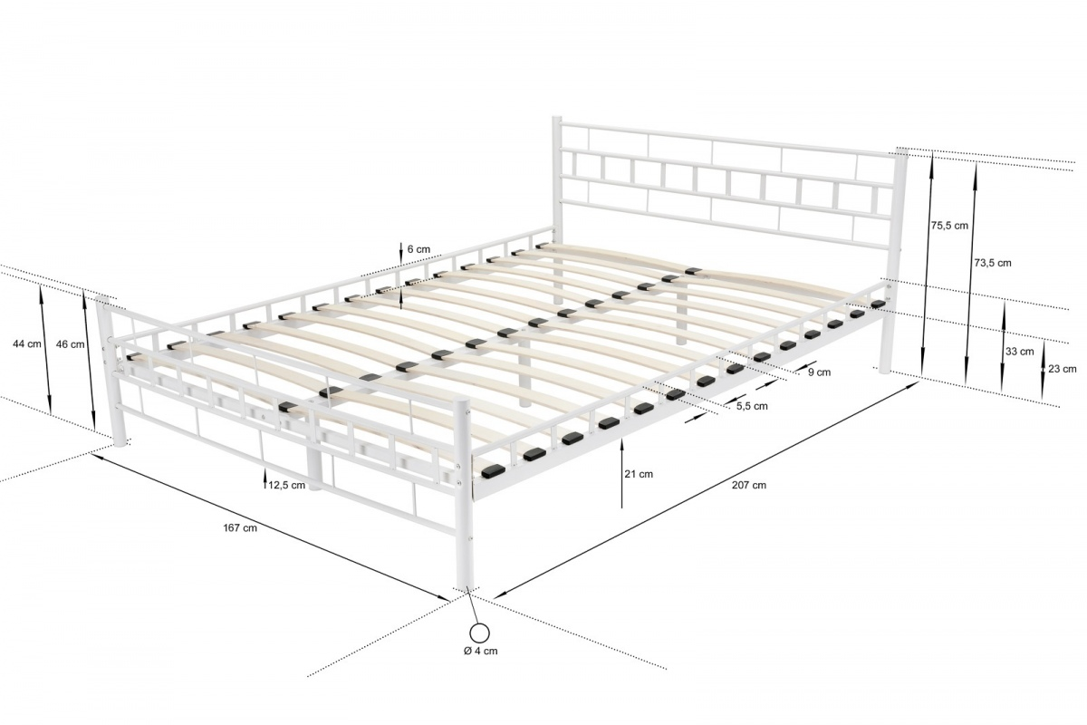 doppelbett ehebett metallbett 160x200 ehebett wei mit. Black Bedroom Furniture Sets. Home Design Ideas