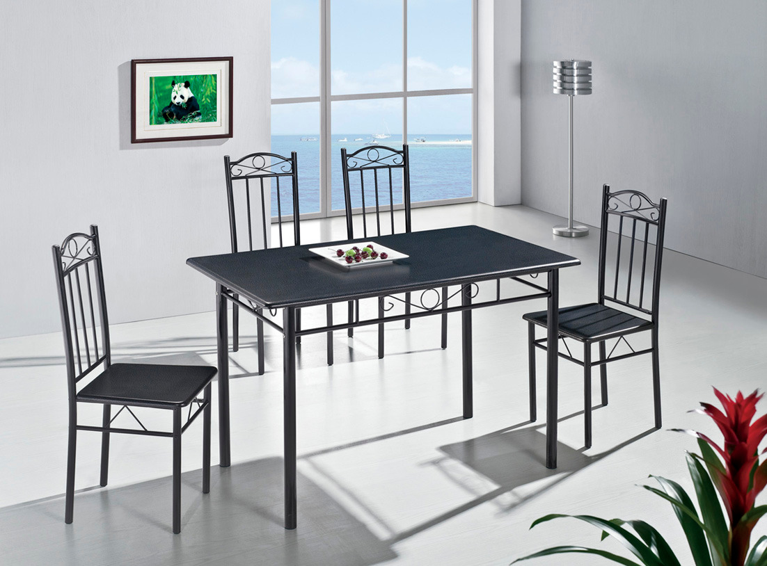 tischset esstischset esszimmer tisch 4 st hle steinimitat k che ebay. Black Bedroom Furniture Sets. Home Design Ideas