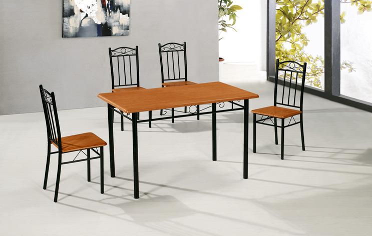 tischset esstischset esszimmer tisch 4 st hle nuss schwarz k che. Black Bedroom Furniture Sets. Home Design Ideas